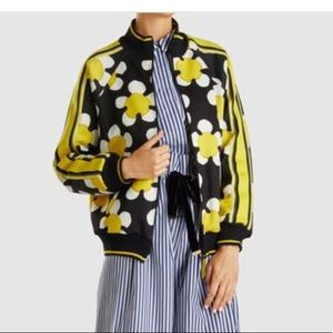 Marc Jacobs daisy Print Jersey Track Jacket